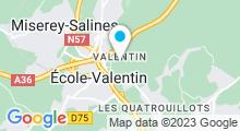 Plan Carte Salle de fitness Wellness Sport Club à Besançon Ecole Valentin