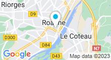 Plan Carte L'Appart Fitness à Roanne