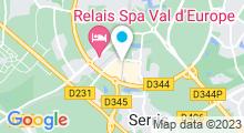 Plan Carte Salle de sport et piscine Cap Tonic Val d'Europe à Marne La Vallée