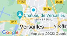 Plan Carte Salle de sport et piscine Cap Tonic à Versailles