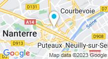 Plan Carte Salle de sport et piscine Club Med Gym Défense Coupole à Courbevoie