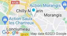 Plan Carte Salle de sport avec piscine Club Energie Forme à Chilly Mazarin