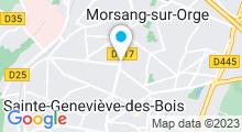 Plan Carte Centre d'aquabiking et Power Plate Tonicity à Morsang-sur-Orge