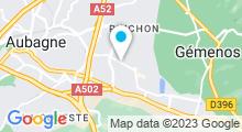 Plan Carte Salle de sport et remise en forme aquatique Aquaforme à Aubagne