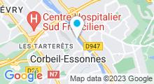 Plan Carte Salle de sport avec piscine On Air+ à Corbeil Essonnes