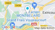 Plan Carte Complexe sportif et piscine Waterform à Montbéliard