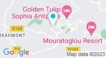 Plan Carte Salle de sport et piscine Sporting Club Espaces Antipolis à Sophia Antipolis