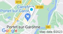 Plan Carte Salle de sport et piscine Movida à Portet sur Garonne