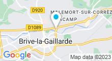 Plan Carte Salle de sport avec piscine Moving Club à Brive La Gaillarde