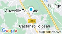 Plan Carte Complexe sportif et piscine Movida à Castanet Tolosan