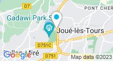 Plan Carte Salle de sport avec piscine Mercure Fitness & Spa à Joué-lès-Tours