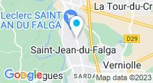 Plan Carte Salle de sport avec piscine Equilibre à Saint-Jean du Falga