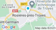 Plan Carte Centre de remise en forme L'Ocelian à Rosières-près-Troyes