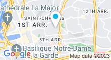 Plan Carte Fitness City Sébastopol à Marseille