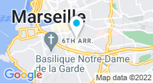 Plan Carte Centre de fitness avec piscine Deltaccord Club Moving à Marseille