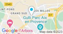 Plan Carte Sun Gym Club à Aix en Provence
