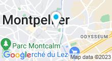Plan Carte Salle de sport avec piscine Vit'Halles à Montpellier
