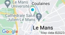 Plan Carte Salle de sport avec piscine Club Moving Voltaire au Mans