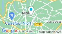 Plan Carte Salle de sport avec piscine & spa Club Aquaforme à Niort