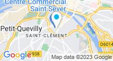 Plan Carte Accrosport à Rouen Saint-Julien