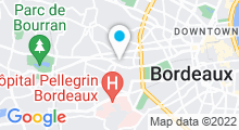Plan Carte Salle de sport avec piscine Aqualigne Caudéran à Bordeaux