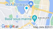 Plan Carte Salle de sport avec piscine Aqualigne Lac à Bordeaux