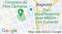 Plan Carte Salle de sport avec piscine Paris Sport Club à Paris (20ème)