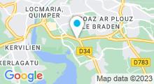 Plan Carte Centre de remise en forme avec piscine Thalaform à Quimper