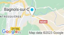 Plan Carte Aquafit Center à Bagnols sur Cèze