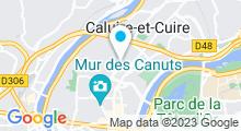 Plan Carte Salle de sport avec piscine Ucanfit à Caluire et Cuire