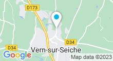 Plan Carte Complexe sportif avec piscine Le Bois de Soeuvres à Vern-sur-Seiche