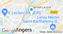Plan Carte Salle de sport avec piscine S'CAPAD Santé Home à Angers