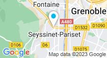 Plan Carte Salle de sport avec piscine Club Gymnesia à Seyssinet-Pariset