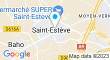 Plan Carte Salle de sport et piscine Garden Gym à Saint-Estève