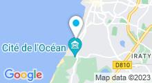 Plan Carte Salle de sport avec piscine Carré Fitness à Biarritz