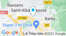 Plan Carte Salle de sport avec piscine Club O'Top à La Ravoire