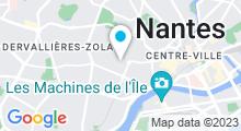 Plan Carte Salle de sport avec piscine Central Form Canclaux à Nantes
