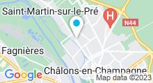 Plan Carte Salle de sport avec piscine Fitness Club à Châlons en Champagne