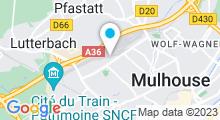 Plan Carte Gymnase Fitness Club à Mulhouse Nord