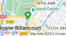 Plan Carte Salle de sport avec piscine Waou Club Med Gym Auteuil à Paris (16ème)