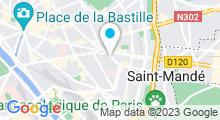 Plan Carte Salle de sport avec piscine CMG Sports Club Nation à Paris (12ème)