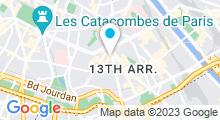 Plan Carte Salle de sport avec piscine CMG One Italie à Paris (13ème)