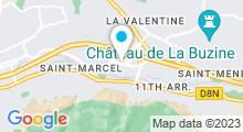 Plan Carte L'Atelier à Marseille La Valentine