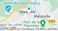 Plan Carte Centre aquabike et salle de sport Active Forme à Nancy