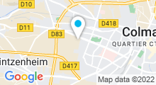 Plan Carte Salle de sport avec piscine Aqua Fitness à Logelbach Wintzenheim
