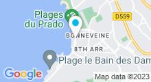 Plan Carte Centre aquabike Silhouette & Bicyclette à Marseille (8ème)