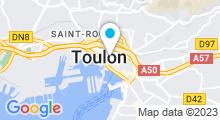 Plan Carte Centre aquabike So-Forme à Toulon