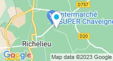 Plan Carte Spa Touraine Nature & Santé à Richelieu