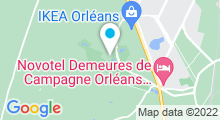 """Plan Carte Spa et centre de remise en forme """"Les Balnéades"""" à Ardon"""