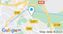 Plan Carte L'Atelier du corps à Mulhouse-Rixheim